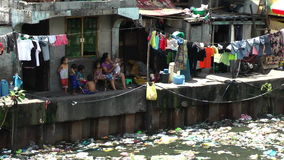 Ghetto in the Muslim district in Manila - Philippines Stock Photos