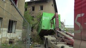 PREROV, CZECH REPUBLIC, OCTOBER 29, 2017: Ghetto poor in Prerov, Skodova street with abandoned former Gypsy ghetto. Ghetto poor in Prerov, Skodova street with stock footage