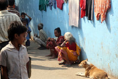 Ghetto and slums in Kolkata Stock Images