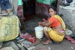 Ghetto and slums in Kolkata Royalty Free Stock Photography