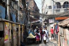 Ghetto and slums in Kolkata Royalty Free Stock Photo