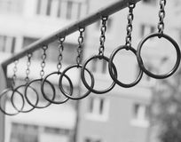 Ghetto street workout, rings Stock Image