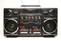 Ghettoblaster retro Foto de Stock Royalty Free