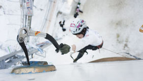Ghiacci il campionato rampicante 2011 del mondo Fotografia Stock Libera da Diritti