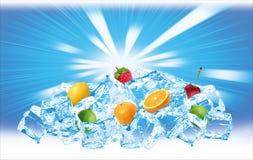 Ghiacci la collina della frutta Fotografia Stock