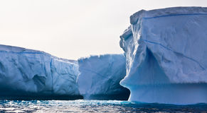 Ghiacciai antartici Fotografie Stock