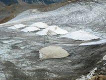 Ghiacciai coperti nelle alpi di Stubai Fotografia Stock Libera da Diritti