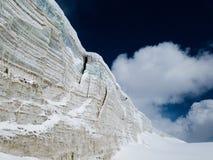 Ghiacciai del ghiaccio della montagna della neve Immagini Stock Libere da Diritti