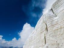 Ghiacciai del ghiaccio della montagna della neve Immagine Stock
