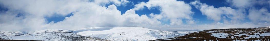 Ghiacciai del ghiaccio della montagna della neve Immagini Stock