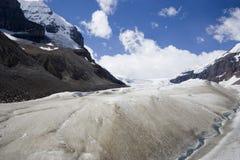Ghiacciai di fusione e di riscaldamento globale nelle Montagne Rocciose Fotografia Stock Libera da Diritti