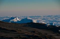 Ghiacciai di Kilimanjaro Fotografia Stock Libera da Diritti
