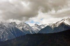 Ghiacciai di Mingyong della montagna della neve di Meili Immagini Stock Libere da Diritti
