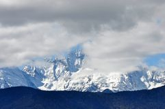 Ghiacciai di Mingyong della montagna della neve di Meili Fotografie Stock Libere da Diritti