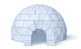 Ghiacciaia dell'iglù sulla vista frontale bianca Fotografia Stock