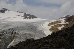 Ghiacciaio, alpi di Otztal, Austria Immagine Stock Libera da Diritti