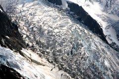 Ghiacciaio in alpi francesi Immagine Stock