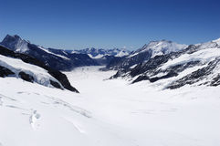 Ghiacciaio in alpi svizzere Fotografia Stock Libera da Diritti