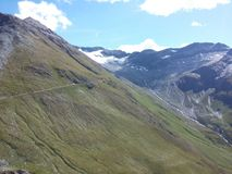 Ghiacciaio in alpi svizzere Fotografia Stock
