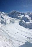 Ghiacciaio alpino Fotografia Stock