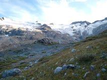 Ghiacciaio alpino della montagna sul ghiacciaio della Svizzera Immagini Stock Libere da Diritti