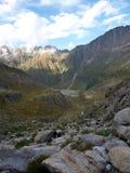 Ghiacciaio alpino della montagna sul ghiacciaio della Svizzera Fotografia Stock Libera da Diritti