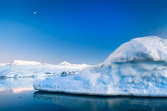 Ghiacciaio antartico Fotografie Stock