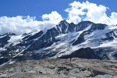 Ghiacciaio austriaco Pasterze del ghiacciaio delle alpi delle montagne Fotografia Stock
