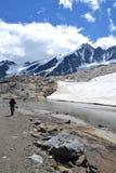 Ghiacciaio austriaco Pasterze del ghiacciaio delle alpi delle montagne Fotografie Stock Libere da Diritti