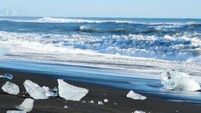 Ghiacciaio del blu di ghiaccio dell'oceano video d archivio