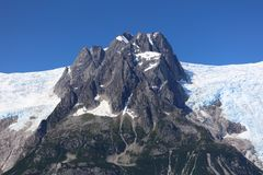 Ghiacciaio del parco nazionale dei fiordi di Kenai Fotografia Stock