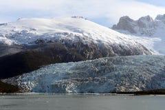 Ghiacciaio del Pia sull'arcipelago di Tierra del Fuego fotografia stock libera da diritti