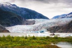 Ghiacciaio del ` s Mendenhall dell'Alaska a Juneau Fotografia Stock Libera da Diritti