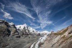 Ghiacciaio della montagna - panorama Immagini Stock Libere da Diritti