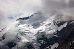 Ghiacciaio delle alpi di Bernina - Engadine Svizzera Immagine Stock