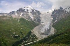 Ghiacciaio di Adishi, Svaneti Fotografia Stock