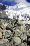 Ghiacciaio di Akkem in montagne di Altai Fotografia Stock
