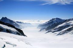 Ghiacciaio di Aletsch immagine stock