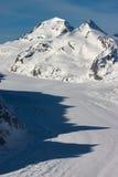 Ghiacciaio di Aletsch in inverno Immagini Stock