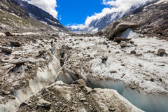 Ghiacciaio di Argentiere in Chamonix Alps, Francia Fotografia Stock