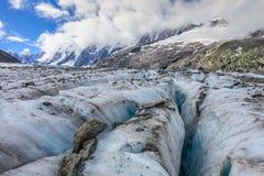 Ghiacciaio di Argentiere in Chamonix Alps, Francia Immagine Stock