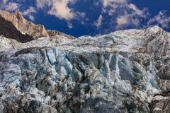 Ghiacciaio di Argentiere in Chamonix Alps, Francia Fotografie Stock Libere da Diritti