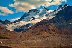 Ghiacciaio di Athabasca del paesaggio in Rocky Mountains Alberta Canada Fotografie Stock