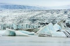 Ghiacciaio di Breidarlon, Islanda Immagini Stock Libere da Diritti