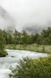 Ghiacciaio di Briksdal - della Norvegia - parco nazionale di Jostedalsbreen Fotografia Stock Libera da Diritti