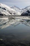 Ghiacciaio di Byron, Alaska, in primavera Immagini Stock