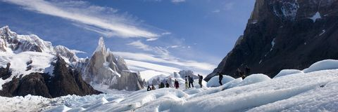 Ghiacciaio di Cerro-Torre's fotografia stock