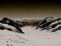 Ghiacciaio di Eiger Immagini Stock Libere da Diritti