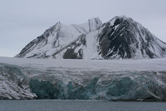 Ghiacciaio di Esmark, Spitzbergen immagine stock
