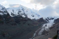 Ghiacciaio di estate in alpi austriache Fotografia Stock Libera da Diritti